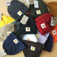 Wholesale Beanie Carhartt - 2017 New style Fashion Carhartt Unisex Spring Winter Hats for Men women Knitted Beanie Wool Hat Beanie Thicken Warm Cap