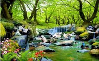 Wholesale Forest Stream - Custom photo wallpaper Large 3D sofa TV background wallpaper mural wall Forest stream views 3d mural wallpaper 20154850