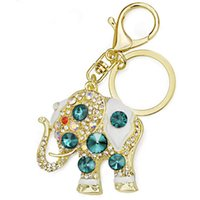 Amazing Elephant Crystal Bag Pendant Purse Bag Buckle Trendy Chaveiro Holder Keyrings Keychains For Car