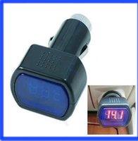 Wholesale Red Digital Speedometer Gauges - Free Shipping Digital Red LED Auto Car Battery Voltmeter Voltage Gauge Volt Meter DC 12V   24V order<$18no track