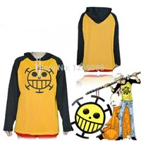 Wholesale Anime Sportswear - One Piece Cosplay Trafalgar Law clothing costume unisex Sportswear Autumn winter long sleeve Hooded Hoodie T-shirt