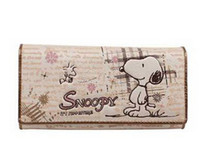 Wholesale Snoopy Wallets - SNOOPY  Snoopy AONISI fashion cartoon eighty percent off long eighty percent off female wallet S2601-24