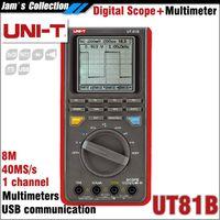 Wholesale Digital Oscilloscope Ut81b - UNI-T UT81B Handheld Digital Multimeters Oscilloscope scope 8MHz 40MS s UNI T UT 81B Multimeter and Oscilloscope scopemeter