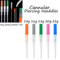 Wholesale Wholesale Disposable Piercing Tools - BOG-Lot 50pcs Professional Surgical Steel I.V. Catheter Cannula Piercing Needles Tool With Free Shipping