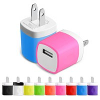 Wholesale Dhl Adapter Eu Plug - Wall charger Travel Adapter For Iphone 6S Plus 5V 1A Colorful Home Plug USB Charger For Samsung S6 S6 EDGE Note 5 USA Version EU Version DHL