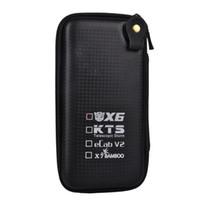 Wholesale Electronic Cigarettes Ecab - Big X6 Case X6 KTS Zipper Case E Cigarette leather case bag for X6 kts K100 K201 K200 ecab v2 electronic cigarette starter kit cheap
