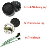 Wholesale Teeth Whitening Powder - 2017 Hot Newest All Natural and Organic Activated Charcoal Teeth Cleaning Tooth and Gum Powder + toothbrush set Total teeth Whites 30g