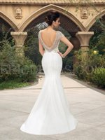 Wholesale Muslim Bride Models - NWD18 2017 fashionable of bride beading tassel backless mermaid wedding dress fish tail plus size custom made bridal gown dresses