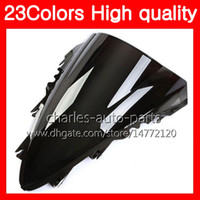 23Colors Motorcycle Windscreen para YAMAHA YZF-1000 YZFR1 07 08 YZF R1 YZF 1000 YZF1000 YZF-R1 2007 2008 Chrome Black Clear Smoke Windshield
