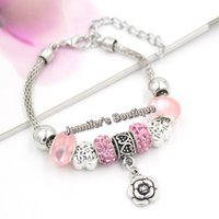 3 cores New Arrival Valentine Jewelry European Charms Love Heart Bead Love Rose Charm Pulseiras para Jóias de presentes do Dia dos Namorados