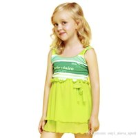 Wholesale Tankini Skirted Swimsuit - 2016 New Style Summer Dress Tankini Swimwear Beautiful Skirt Girl's Gift Children Swimsuit Two Pieces Bathing Suit For Girls Children&