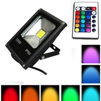 Wholesale Thin Led Lighting Floods - 10pcs Ultra Thin!Led Reflector 10W 20W 30W 50W RGB Led Flood light Waterproof IP65 Floodlight AC85-265V Outdoor lights