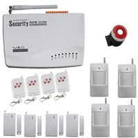 Wholesale Wireless Alarm Dialer - Safearmed TM SF-604G Generic GSM Wireless PIR Home Security Burglar Alarm System Auto Dialing Dialer SMS Call