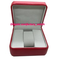 Wholesale Square Red Box Watch Papers - Factory Supplier New Luxury Mens Box Swiss Original Brand Red Boxes Papers Watches Booklet Card Gift For Man Men Women Sale