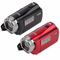 zoom tragbarer digitalrekorder großhandel-Tragbare Videokamera 720P HD 16MP 16x Zoom 2,7 '' TFT LCD Digital Video Camcorder Kamera DV DVR Schwarz Rot 2017 Neuankömmling
