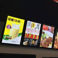Wholesale Poster Display Light Box - Magnetic Poster Picture Frame for Advertising LED Light Box with LED Display Board