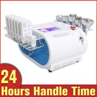 Wholesale Cooler Pad Led - LED Photon Cooling Rf Ultrasound Cavitation Vacuum Body Fat Loss Machine with 8 Lipo Laser Pads