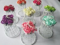 Luxe White Bird Cage Casamento Favor Gift Box Favors 7 * 7 * 10cm Wedding Decorações Birdcage Candy Box