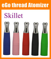 Wholesale Cheap Ego T Batteries - Skillet Vaporizer 510 Wax Atomizer cheap Tank Vaporizer Metal Drip Tip Replacement Atomizer Fit For all Ego Battery ego t battery ATB014