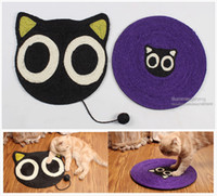 """Wholesale Sisal Cat Scratching Board - Black Cat Scratch Board Sisal Fiber Scratching Post Cat Toy Products For Cats Pet Toys 15.3"""" Large Size Cat Accessories"""