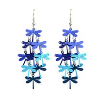Wholesale Dragonflies Earring - Brincos De Festa Cute Blue and Colorful Dragonfly Bohemian Jewelry Dangle Earrings for Women