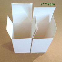 Wholesale Cardboard Tea Box - Wholesale 150Pcs Lot 7*7*7cm White Cardboard Paper Box Gift Packaging Box for Jewelry Ornaments Perfume Cosmetic Bottle Wedding Candy Tea