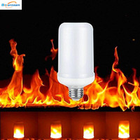 Wholesale led flame effect - E27 2835SMD 8W 3 modes LED Flame Effect Fire Light Bulbs Flickering Emulation Decorative Flame Lamps For Christmas Halloween Decoration