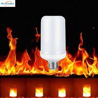 ingrosso lampadina mr16 led-E27 2835SMD 8W 3 modalità LED Effetto fiamma Lampadine a fuoco Emulazione tremolante Lampade a fiamma decorative per la decorazione di Halloween di Natale