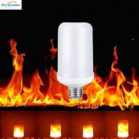 decoraciones de iluminación led de interior al por mayor-E27 2835SMD 8W 3 modos LED llama efecto de fuego Bombillas parpadeo Emulación decorativo Llama Lámparas para Navidad decoración de Halloween