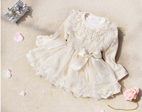 Wholesale Yarn For Sale Wholesale - Children Clothing For Spring Fall Pure Net Yarn Tutu Dress Girl Lace Princess Dress Hot Sale Baby Kids Dress