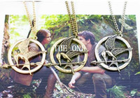 Wholesale Mockingjay Hunger Games Pendant - the hunger games bird necklace hunger games mockingjay and arrow pendant necklace the hunger games necklace metal katniss necklace in stock