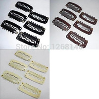Wholesale Clips For Hair Weft - U Shape Snap Clip For Hair Extension wig weft 32mm
