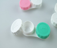 Wholesale Lowest Price pairs Contact Lens Case lovely Colorful Dual Box Double Case Lens Soaking Case