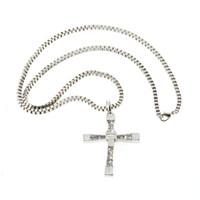 быстрые яростные ожерелья оптовых-2015 новый горячий мужской классический для быстрого и яростного Доминика Торетто крест кулон 26