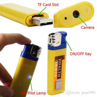 Wholesale Cam Lighter - 50 lot 720*480 Mini Lighter Hidden Camera High Definition Camera Lighter Spy Cam Portable Video Photo Recording Tool Blue Yellow
