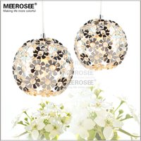 Wholesale Flowers Contemporary - Silver Color Flower Crystal Chandelier Light Fixtue Aluminum Dining Crystal Light for Aisle, Porch, Hallway,Bedroom MD88035