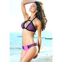 Wholesale Thongs Cutouts - Cutout Halter Polka Dot Bikini Sets bathing suit women thong swimsuits Beachwear Push Up Female 9721