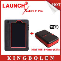 Wholesale Get Scanner - New Arrival Original Launch X431 V Wifi Bluetooth Tablet Full System Diagnostic Scanner Get MINI WiFi Printer For Gifi Free Ship