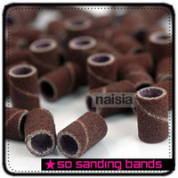"""Wholesale Sanding Nail Drill - 1000pcs Coarse Sanding Bands For Electric Nail Drill For Professional Manicure Pedicure Tools 80 """"12 """"180 """" Grit"""