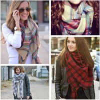bufanda de varios colores al por mayor-venta al por mayor de invierno hermosa multi-color tartan plaid mantita bufanda grande espesar cálido chal para damas de las mujeres - 2014 Blogger favorito