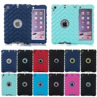 Wholesale Robert Cover - New American style ipad mini 4 hard protective shell silicone pc 3 in 1 robert defender cover with screen film 12 colors