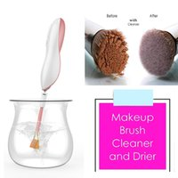 Wholesale Quick Washing Machine - MS001 Makeup Brush Cleaner Electric Automatic Portable Cleaning Machine Wash and Dry Your Cosmetic Brush Quick and Easy