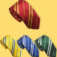 Wholesale Harry Potter Striped Tie - High quality 4 stylel Handsome Men Silk Neckties Fashion Wedding Brand Man neck ties striped Harry Potter Design neckwear 100pcs