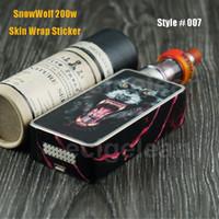 Wholesale Evic Wraps - Sigelei SnowWolf 200w skin wrap stickers*10-40pc VS Subox Mini skin sticker  IPV D2 cover eVic VT skin  IPV3 Li skin wrap Label