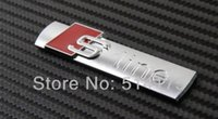 Wholesale 5 x New Auto car silvery S line Sline for Car A4 S4 RS4 A6 TT A3 Emblem Badge Sticker order lt no track