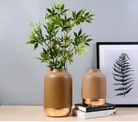Wholesale Flowers Contemporary - Ceramic table dry flower vase Nordic contemporary and contracted sitting room place arranging flowers