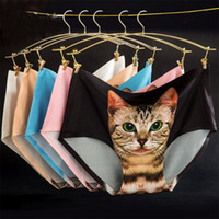 Wholesale Cute Sexy Underwear - Hot Sexy Women's Underwear with Cute kitten Cat Kitty Preven Bottom-baring Private Safe Pants One Site Fit XS S M F130 2pcs