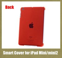Wholesale Crystal Ipad Mini Cover - Clear Crystal Hard Back Case Work with Smart Cover Shell For Apple iPad mini  mini 2 waterproof shockproof colorful PCC007