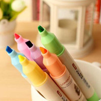 Highlighters paint pastel - New Colors Double Head Highlighter Pen Marker Paint Liner Pastel Glitter Decorative Label Round Toe Oblique