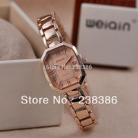 TGJW485 Fashion Rose Gold Women Montres-bracelets WeiQin Montres de marque Stainless Steel Clcok For Lady Gift